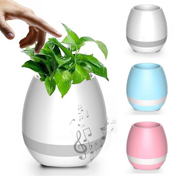 Bakeey™ K3 Waterproof Wireless Bluetooth Speaker LED Flower Pot Touch Piano Music Mini Speaker
