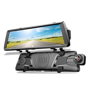 10 Inch FHD Touch 1296P 4G Android Car Mirror DVR Camera Dual Lens Dash Cam