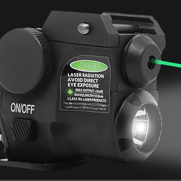 180ml Green Laser Sight Beam Dot Scope LED Flashlight for 20mm Tactical Picatinny Rail Mount