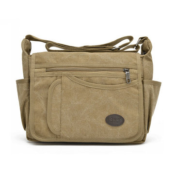 Multi Pocket Capacity Canvas Crossboby Bag Leisure Outdooors Travel Shoulder Bag