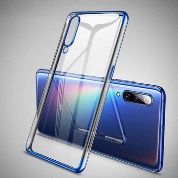 Bakeey Plating Transparent Shockproof Soft TPU Back Cover Protective Case for Xiaomi Mi 9 / Mi9 Transparent Edition