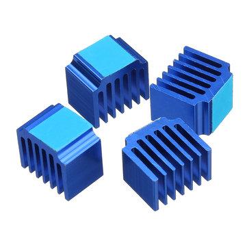 4PCS 14*10*13mm Cooling Heatsink With Back Glue For DRV8825/TMC2100 Stepper Motor Driver 3D Printer Part