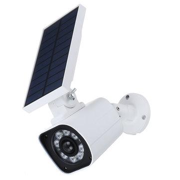 1000LM 5W 8 LED Solar Potencia luz LED Dummy Security Cámara Wall Lámpara Motion Sensor IP66
