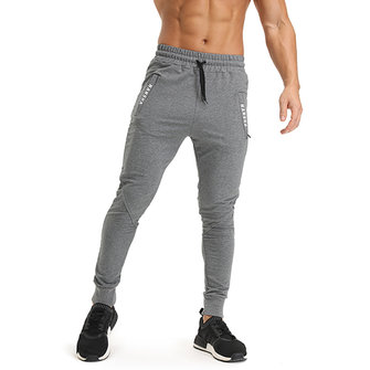 Spring Autumn Men's Casual Running Sports Pants Leisure Elastic Waist Drawstring Feet Pants