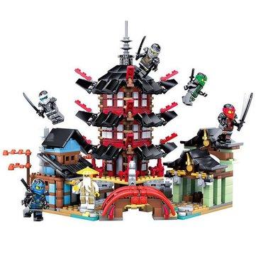 Ninja Temple Building Block Educational Gift Fidget Toys 737Pcs