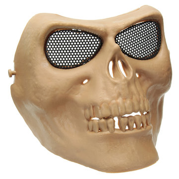 Halloween Costumes Skull Masks Retro Imitation Metal Terror Masks Half Face