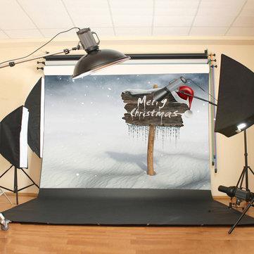 7X5FT Christmas Vinyl Backdrop Photography Prop XMAS Studio Photo Background