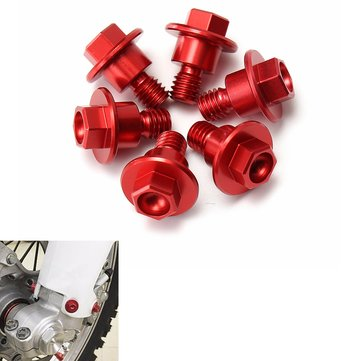 6pcs CNC Red Bolt Fork Guard For Yamaha/Suzuki/KTM/Kawasaki/Honda CRF250/125/450/XR250/400/CR85R
