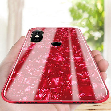 Bakeey Shell Bling Glossy Tempered Glass Protective Case for Xiaomi Mi A2 Lite / Xiaomi Redmi 6 Pro