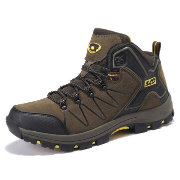 Man Warm Boots - Outdoor Hiking High Top Athletic Shoes