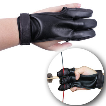 Tactical Archery 3 Fingers Sleeve PU Recurve Bow Traditional Bow Finger Guard Hunting Protector