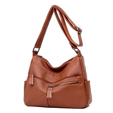 Women Faux Leather Leisure Shoulder Bag Crossbody Bag Should