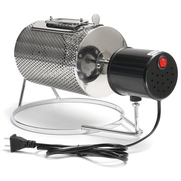 110V Electric Stainless Steel Coffee Roaster Roller Baker Home Bean Baking Roasting Machine