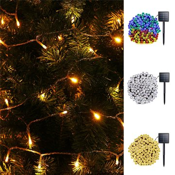 Solar Powered 10M 8 Modes 70 LED String Light Outdoor Christmas Holiday Garden Lamp