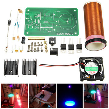 DIY Mini Music Tesla's Coil Kit Field Loudspeaker Low Power Miniature Tesla Magic Toy JX03 DIY Project Parts