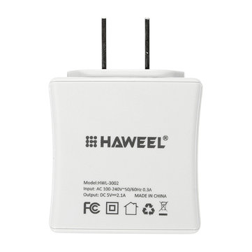 HAWEEL Dual USB 5V 3.1A US Plug Travel Charger