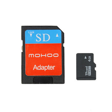 Mohoo Class 4 4GB Micro SD SDHC Card TF Card With Adapter For Cell Phone