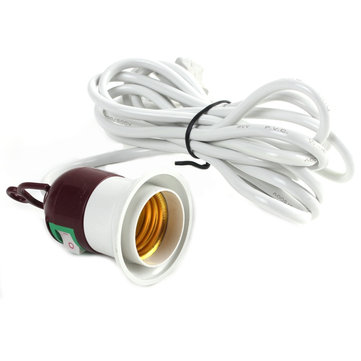 E27 Lamp Bulb Holder Socket 250V 10A On Off Switch With 3m Power Cable Cord