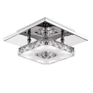 Modern LED 12W Crystal Pendant Light Corridor Stainless Steel Ceiling Lamp Fixture AC85-260V