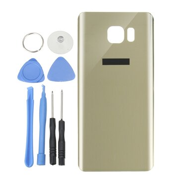 Arka Cam Batarya Kapı Muhafazası Kaplaması Onarımlı Değiştirme Aletler için Samsung Galaxy Note 5 N920