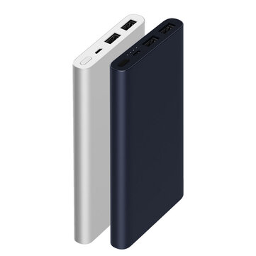 Original Xiaomi New 10000mAh Power Bank 2 Dual USB 18W Quick Charge 3.0 Charger for Mobile Phone - Navy