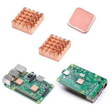 Raspberry Pi 2/3 Copper Heat Sink Heat Sink With Special Thermal Cooling Paste
