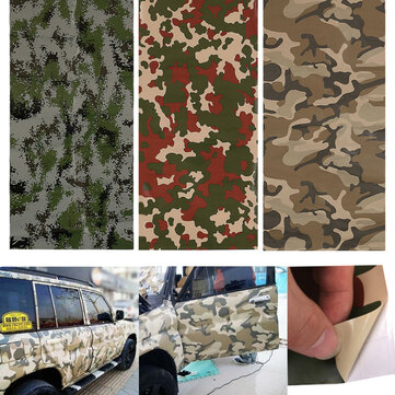 150X60cm Camo Camouflage Car Stickers Forest Desert Digital Vinyl Film Wrap Decal Air Bubble Free