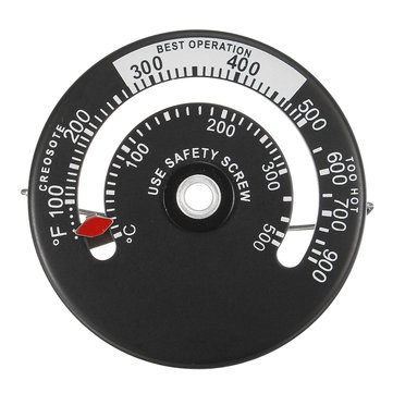 500℃ 900℉ Burner Stove Fireplace Thermometer Furnace Barbecue Temperature Gauge