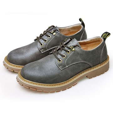 Men Breathable Leather Outdoor Climbing Oxfords Shoes