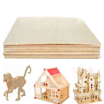 10Pcs 200x100mm Wooden Sheet Balsa Light Wood Plate DIY Model House Aircraft Ship