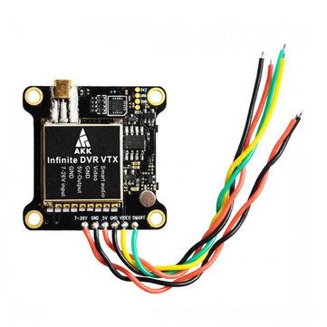 AKK Infinite DVR VTX 25/200/600/1000mW Power Switchable FPV Transmitter