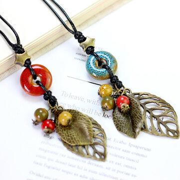 Cheap Ethnic Pendant Handmade Beads Necklace For Women