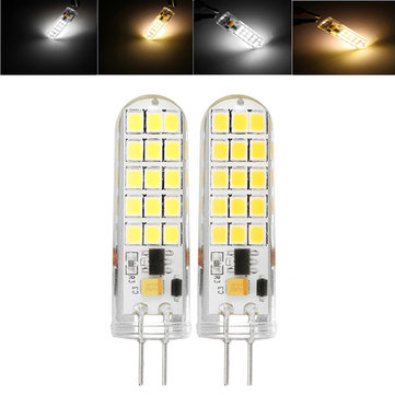 G4 1.7W SMD2835 30LEDs Warm White Pure White Silicone Light Bulb AC/DC12V