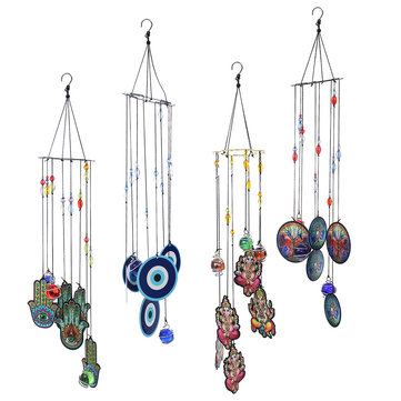 Colorful Wind Chimes Crystal Ball Prism Hanging Window Craft Gift Home Garden Decorations