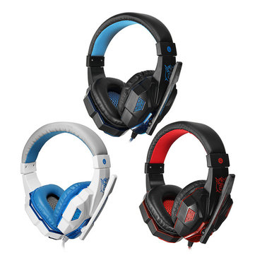 Audio Jack + USB Luminescence Gaming Headphone Headset with Microphone