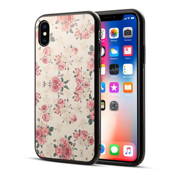 Bakeey Printing Flower Non-slip Hard PC TPU Protective Case for iPhone X/7/8 Plus