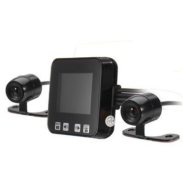 C6 HD Motorcycle Sport Camera 2inch 720P IP68 Front & Back Dual Dash Cam Video DVR Camcorder w/GPS