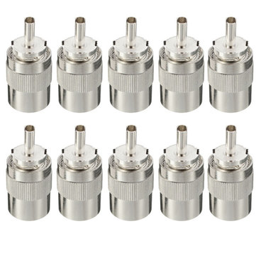 10pcs UHF PL259 Male Connector Plug Solder RG8 RG213 LMR400 7D-FB Cable