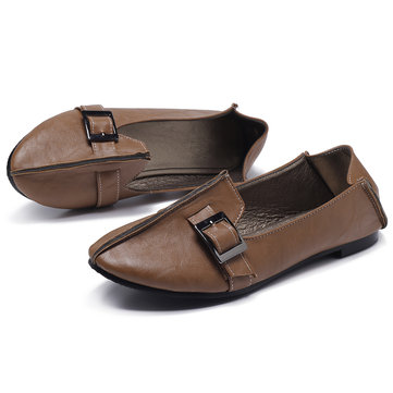 US Size 5-12 Women Casual Shoes Buckle Flats