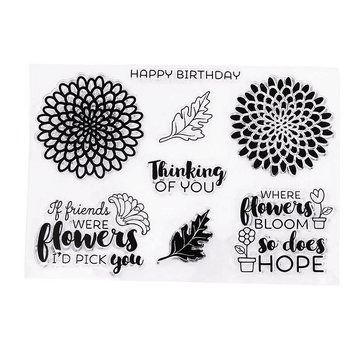 Scrapbook DIY Photo Album Cards Transparent Acrylic Silicone Rubber Clear Stamps Birthday Theme