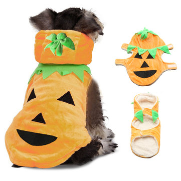 Halloween Pumpkin Style Pet Puppy Dog Cat Clothes Hoodie Costumes Apparel Coat