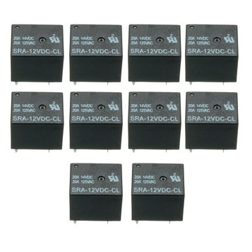 50pcs 5 Pin Relay 12V DC 20A Coil Power Relay SRA-12VDC-CL