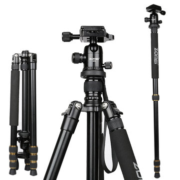 ZOMEI Q666 Proline Travel Magnesium Alloy Tripod Monopod with Ball Head