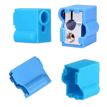 Blue Silicone Volcano Heating Block Protective Case for 3D Printer Part V6 Hotend