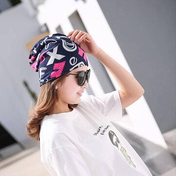 Femmes Coton Casual Printing Hood Headpiece Été Bonnets Bonnet respirant