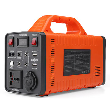120000mAh 444Wh 300W Pure Sine Wave Portable Power Supply Generator Battery Solar Energy Storage UPS