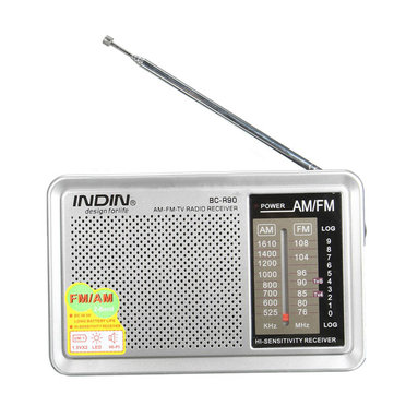 BC-R90 Portable Mini AM FM Telescopic Antenna Radio Pocket World Receiver Built-in Speaker
