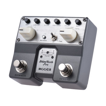 Original MOOER Shimverb Pro Pedal de efectos de guitarra con reverberación digital con 5 modos de reverberación
