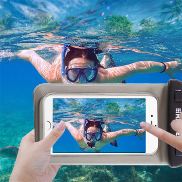 Haweel Waterproof Transparent Screen Touch Phone Bag for iPhone Xiaomi Huawei Mobile Phone