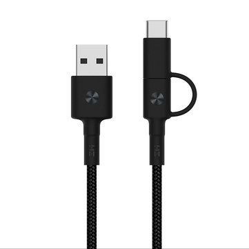 Original Xiaomi ZMI Braided 2 in 1 Micro USB Type-C Sync Fast Data Cable for Samsung Huawei